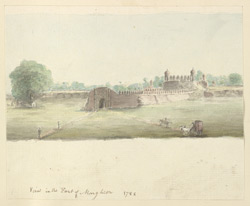 f.12b 'View in the Fort of Mongheer, 1788.' [Monghyr]